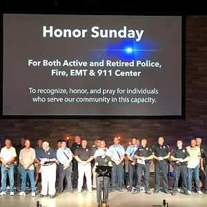Church hosts first responders