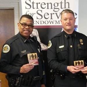 Nashville police officers thank SFS team for devotional books