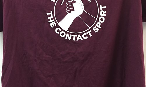 T-SHirt--Discipleship the Contact Sport - Maroon