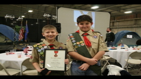 news boy scout 11 honored for life saving action 0