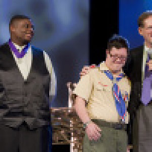 UM Men celebrate anniversary of Girl Scouts, award youth