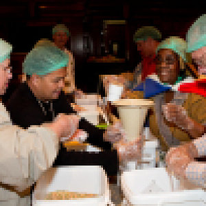 World Methodist Conference participants package more than 100,000 meals for children